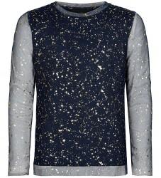 The New Bluse - Fina - Navy Blazer m. Guld
