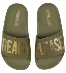 The White Brand Badesandaler - Beach Army - Army