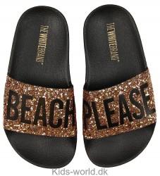 The White Brand Badesandaler - Beach Glitter - Bronze Glitter