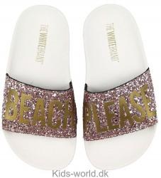 The White Brand Badesandaler - Beach Glitter - Rosa Glitter