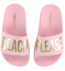 The White Brand Badesandaler - Beach Please - Rosa