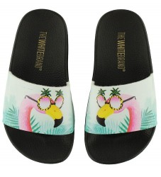 The White Brand Badesandaler - Flamingo