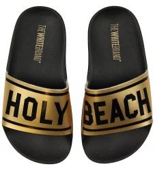 The White Brand Badesandaler - Holy Beach - Sort/Metallic Guld