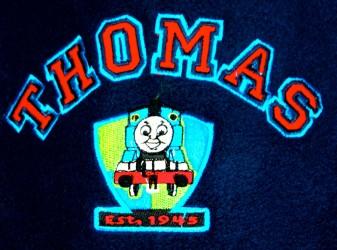 THOMAS TOG fleece bluse med hætte, blå