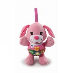 Tøjdyr med lys og lyd fra VTech - Little Singing Puppy - Pink