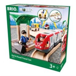 Tog- og vejbane, rejsesæt - 33209 - BRIO Tog
