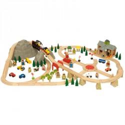 Togbane med bjerg