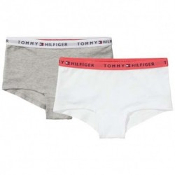 Tommy Hilfiger 2-pack Shorty hipsters hvid/grå