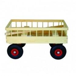 Trækvogn 4 personer luft hjul 95x60 cm