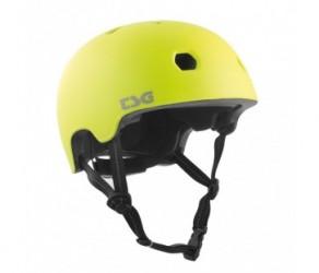 TSG Cykel- og skaterhjelm - Meta solid color - Str. 61-63 cm - Satin acid gul