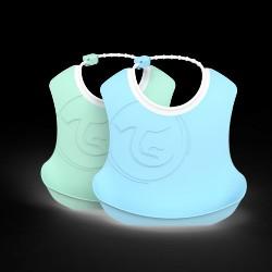 Twistshake 2x spisesmække - Blå og grøn