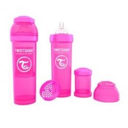 Twistshake sutteflasker - 180 ml - Pink - 2 stk.