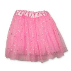 Tylskørt m. stjerne - Pink