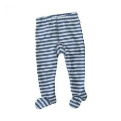 Uld Blå Smal Strib - Bukser med fod fra Joha 25091-245-6761