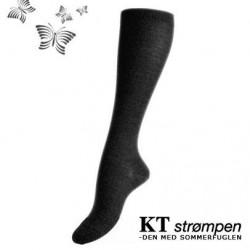 Uld knæ-strømper, koksgrå (27-30) - velegnet til membran-støvler