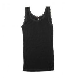 Uld sort - Top blonder voksen fra Joha 70401-6-311