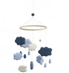 Uro i filt fra Sebra - skyer royal blue