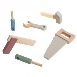 Værktøjssæt i træ Fra Sebra - warm grey