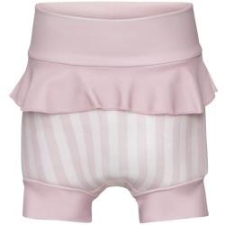 Vanilla Copenhagen blebadebukser med skørt - Ocean - Pink med striber