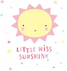 Wall sticker fra A Little Lovely Company - Little Miss Sunshine