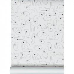 Wallpaper Contour Black