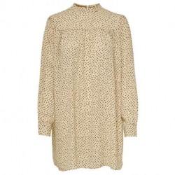 Warm Sand W. BLACK SPOTS ONLAMY L/S DETAIL DRESS WVN PETITE 15215680 fra Only