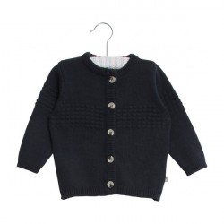 Wheat Navy Baby Cardigan