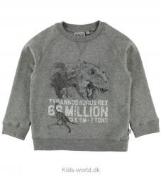 Wheat Sweatshirt - Gråmeleret m. Dinosaurprint