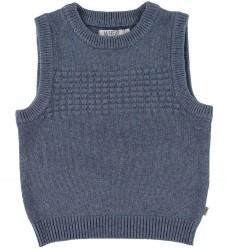 Wheat Vest - Strik - Sailor - Uld/Bomuld - Greyblue Melange