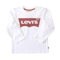 White Logo - Bluse fra Levis. Lange ærmer og klassisk print