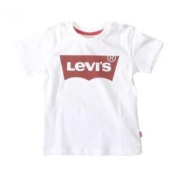 White Logo - Tee fra Levis med det velkendte mærke i rødt