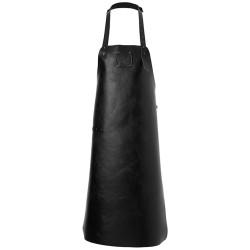 Witloft forklæde i læder - Pure black
