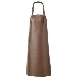 Witloft læderforklæde - Mørk brun