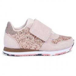 Woden Kids Nessa Glitter Sneaker - Blush