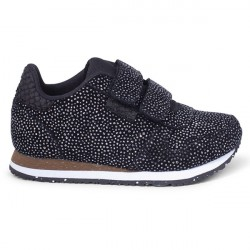 Woden Kids Sandra Pearl Sneaker - Black/Silver