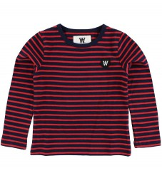 Wood Wood Kids Bluse - Navy/Rødstribet