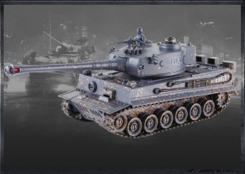 ZEGAN German Tiger Fjernstyret IR Battle Tank 1:28, 2.4G (99814)