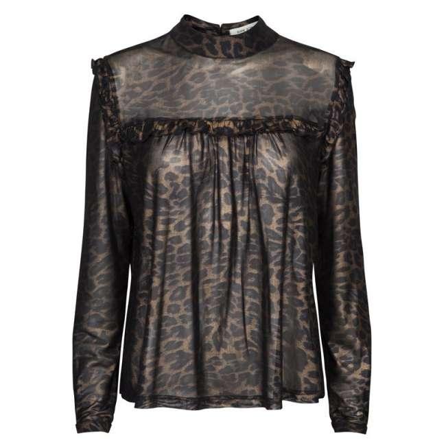 329f1647a5cf Priser på Black GOLD leopard Bluse fra Sofie Schnoor S175250 ...
