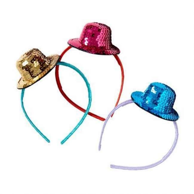 Priser på Hårbøjle med Paillet Hat fra Rice - Flere farvemuligheder