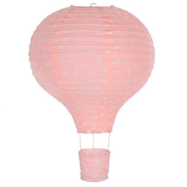 Priser på Lampe Luftballon Rispapir Lyserød