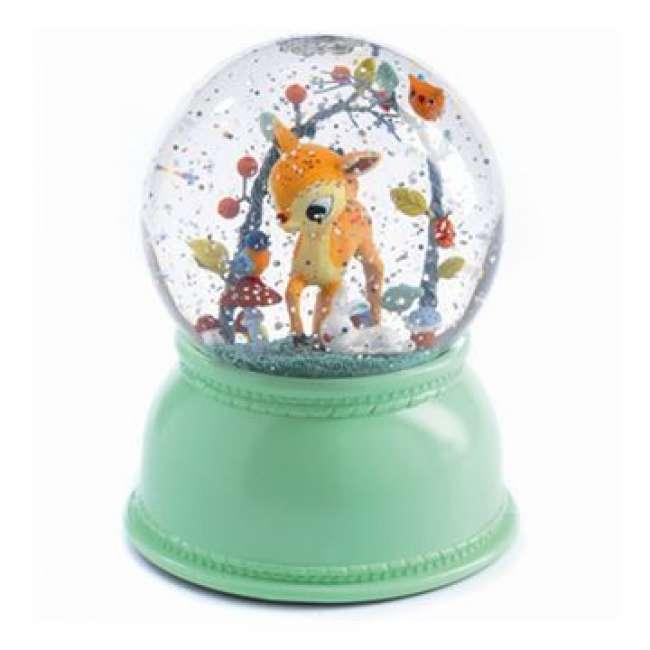 Priser på Snekugle med Natlys Bambi - Djeco Little Big Room